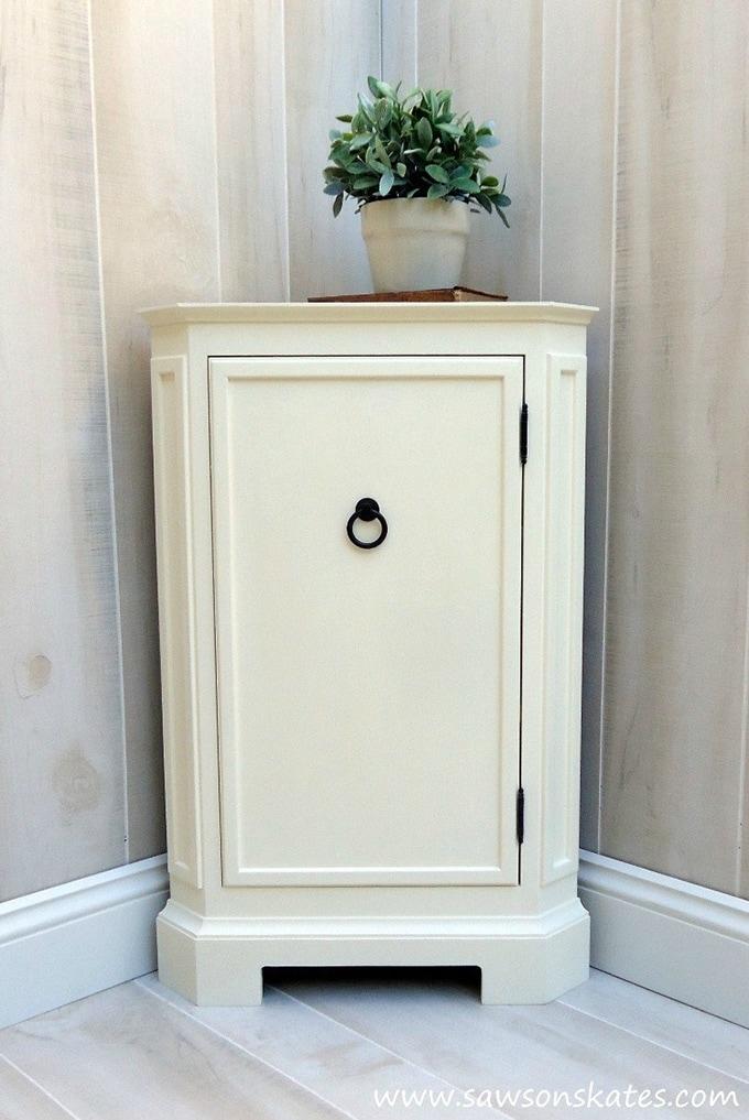 DIY corner cabinet for storage