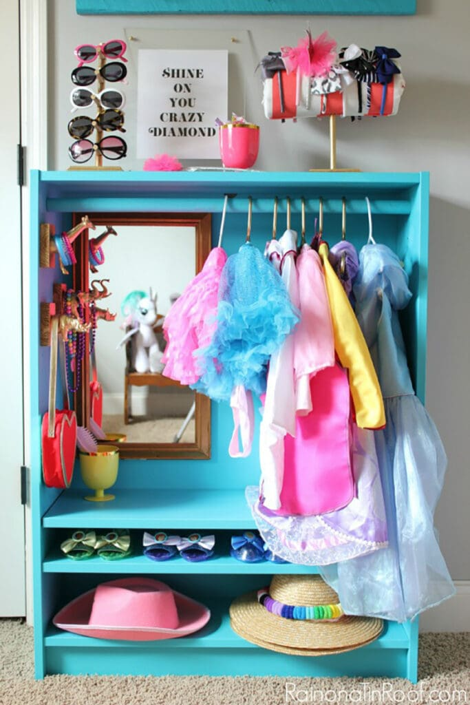 Ikea hack DIY dress up closet for kids