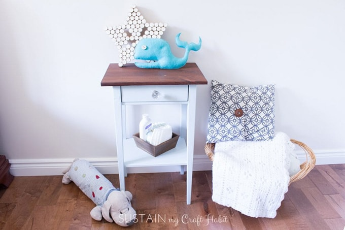 Ikea Hemnes nightstand in a nursery