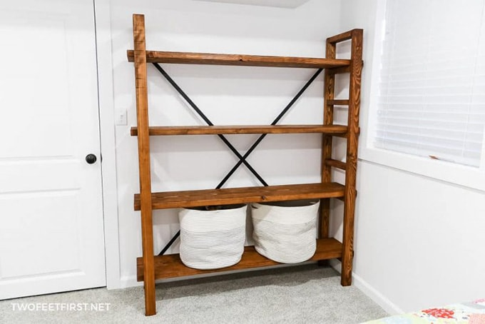 DIY West Elm inspired bookcase furniture idea for storage