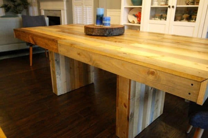West Elm knock off reclaimed wood dining table