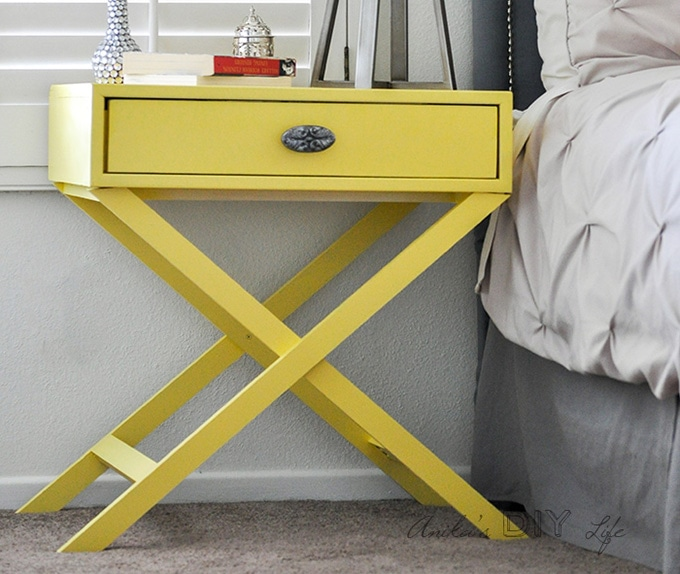 DIY Furniture ideas for the home yellow x leg side table