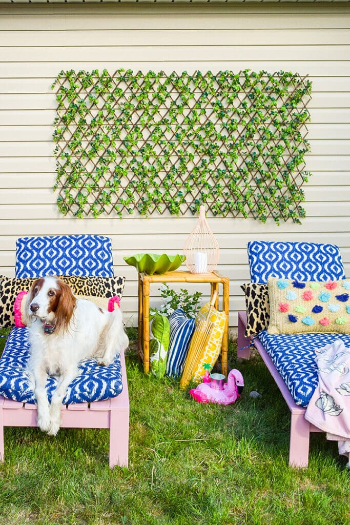 easy DIY Patio Loungers