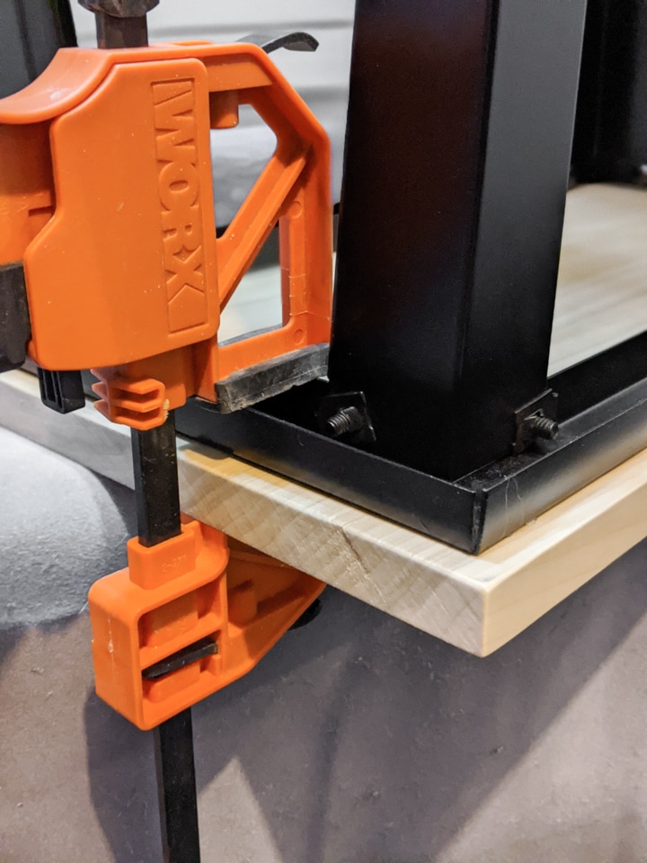 worx clamp on a table
