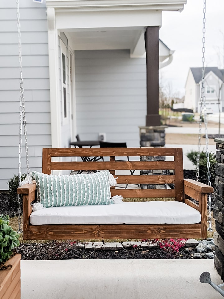 DIY porch swing build plans
