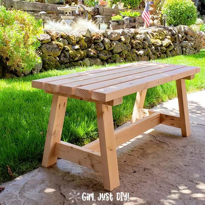 modern 2x4 bench