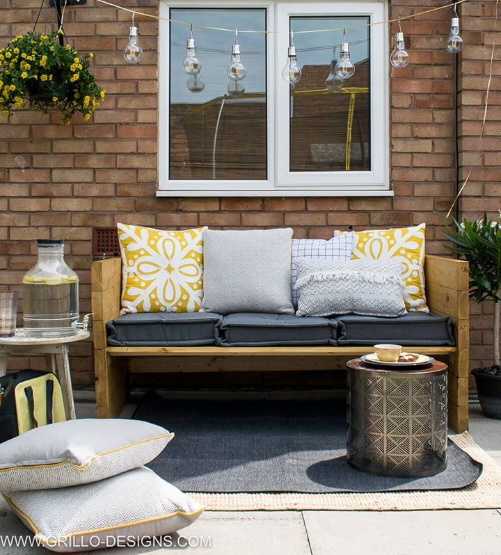 outdoor two seater sofa DIY