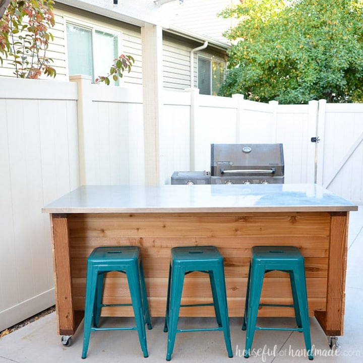 how to build your own outdoor kitchen island