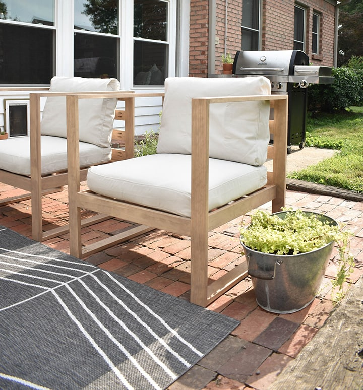 DIY Outdoor Modern Chairs