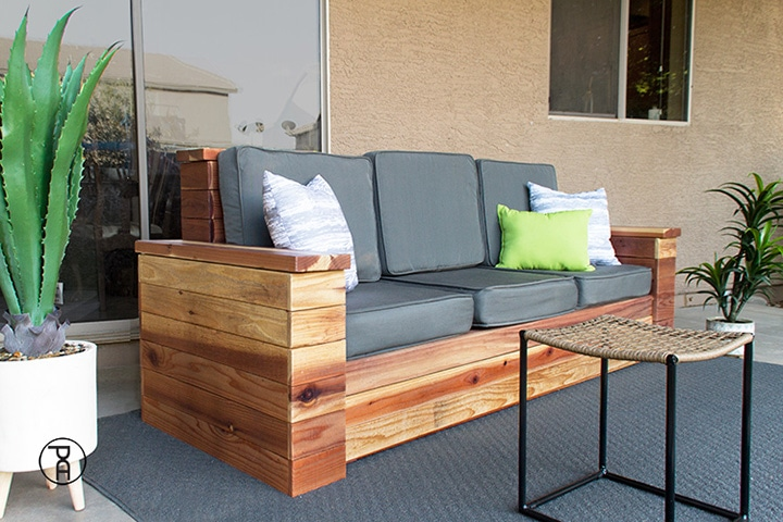 outdoor sofa with hidden storage build plans