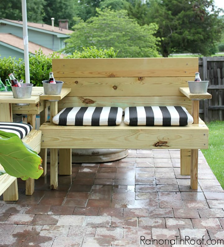 DIY outdoor sectional sofa