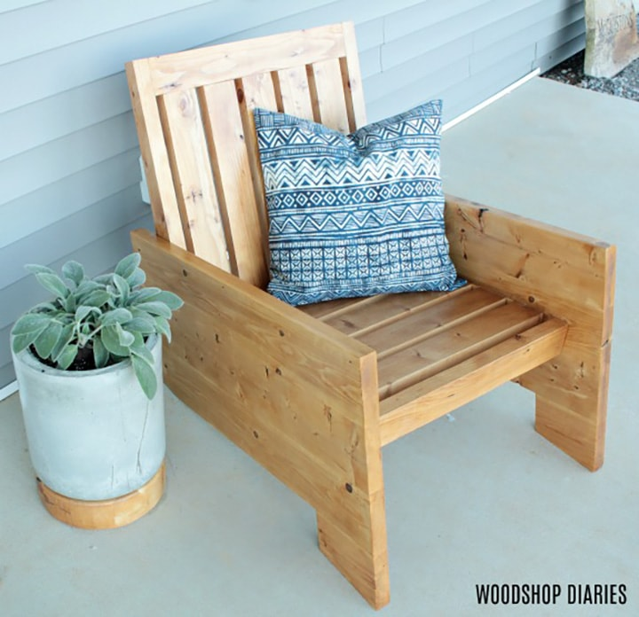 build plans for Modern Porch Chairs