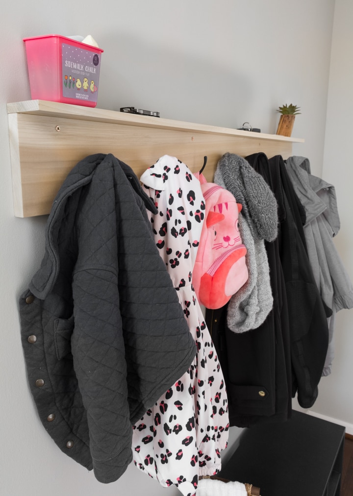 diy wall coat rack