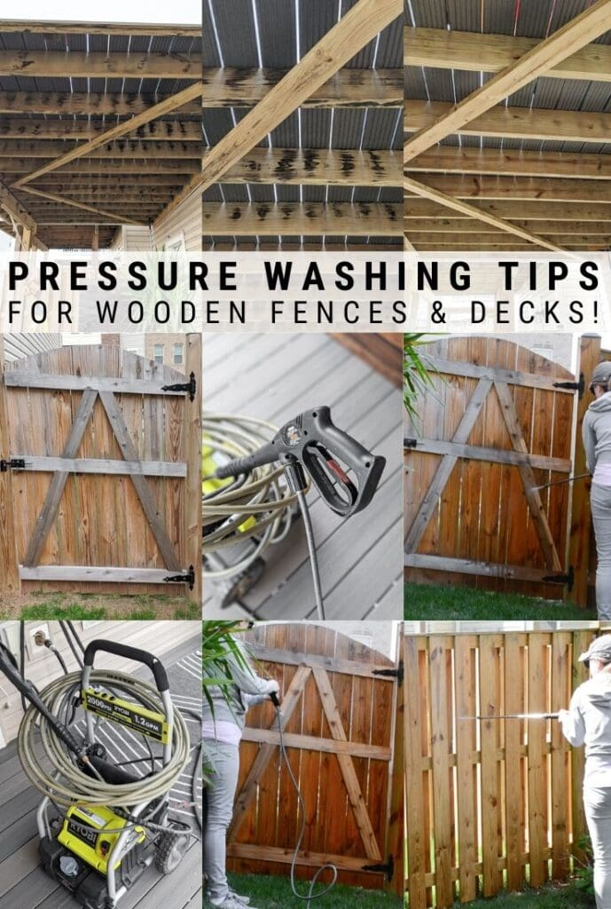 how to pressure wash a fence
