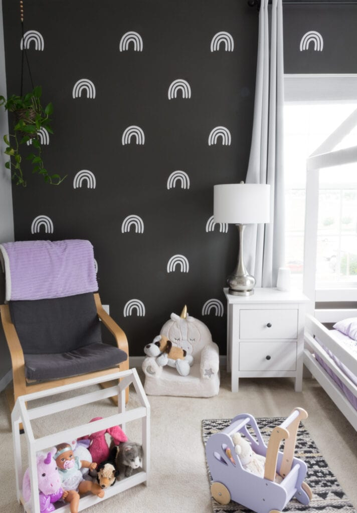 DIY wall decals in a kids room