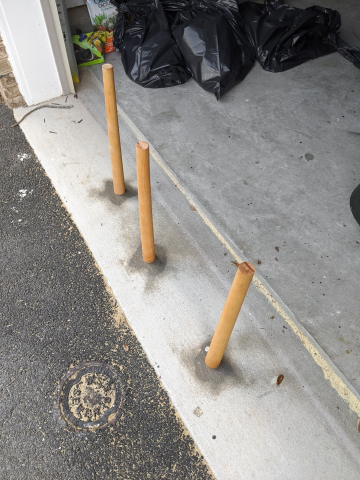 sealing wooden planter legs