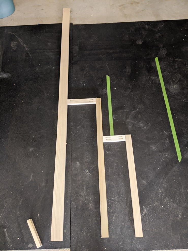 DIY tiered plant stand build process