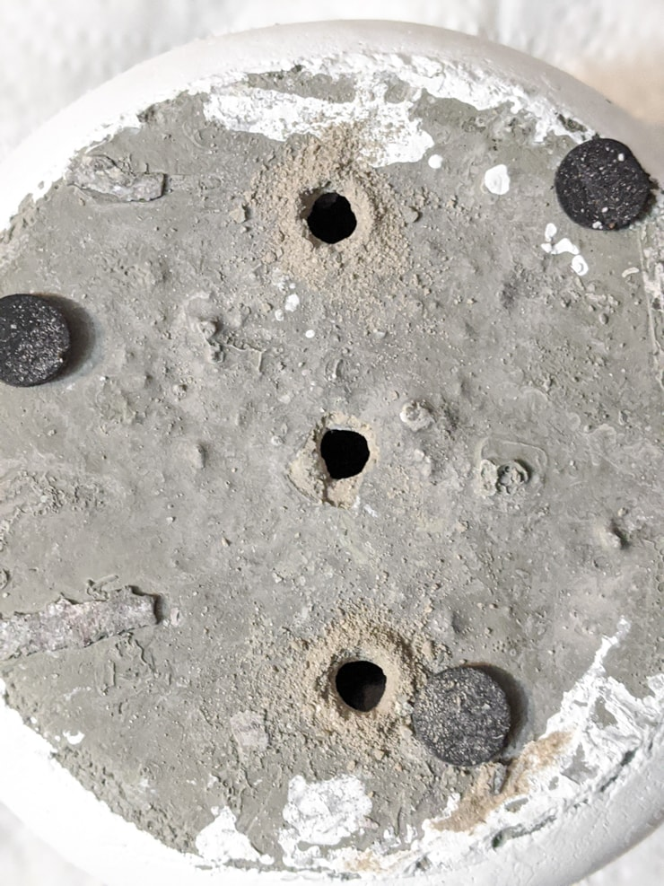 how to drill holes in a concrete pot