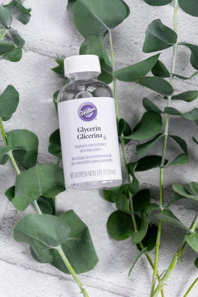 bottle of glycerin