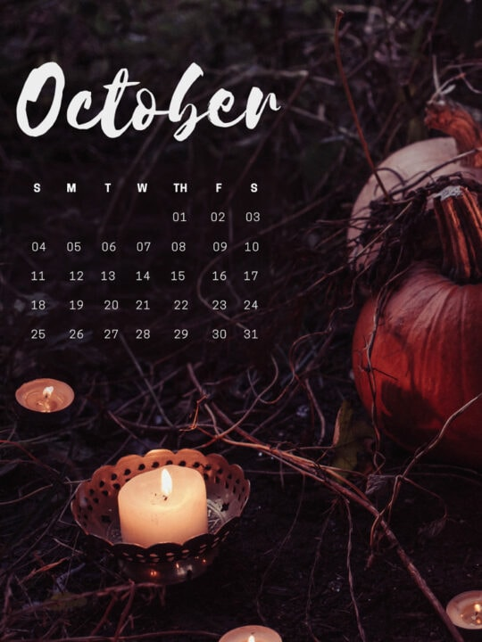 free October 2020 desktop background