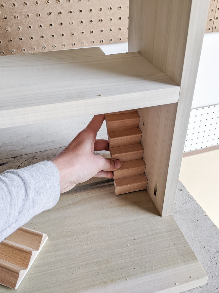 adding stairs to a dollhouse