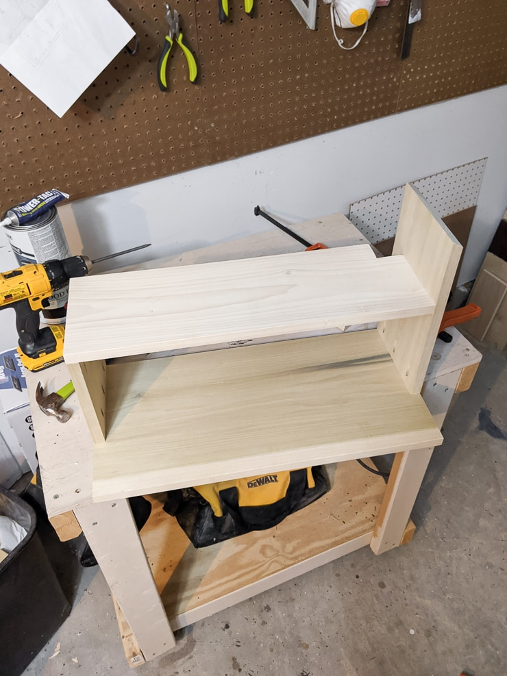 adding the second floor to a dollhouse