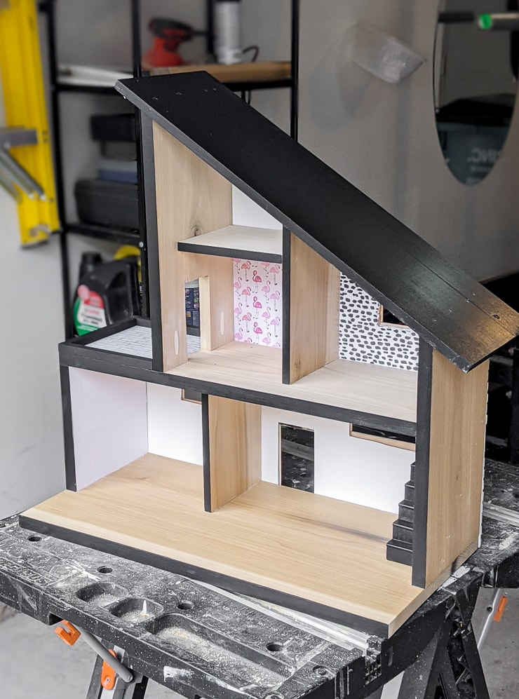 DIY modern dollhouse plans