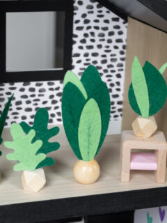 Miniature Felt Dollhouse Plants