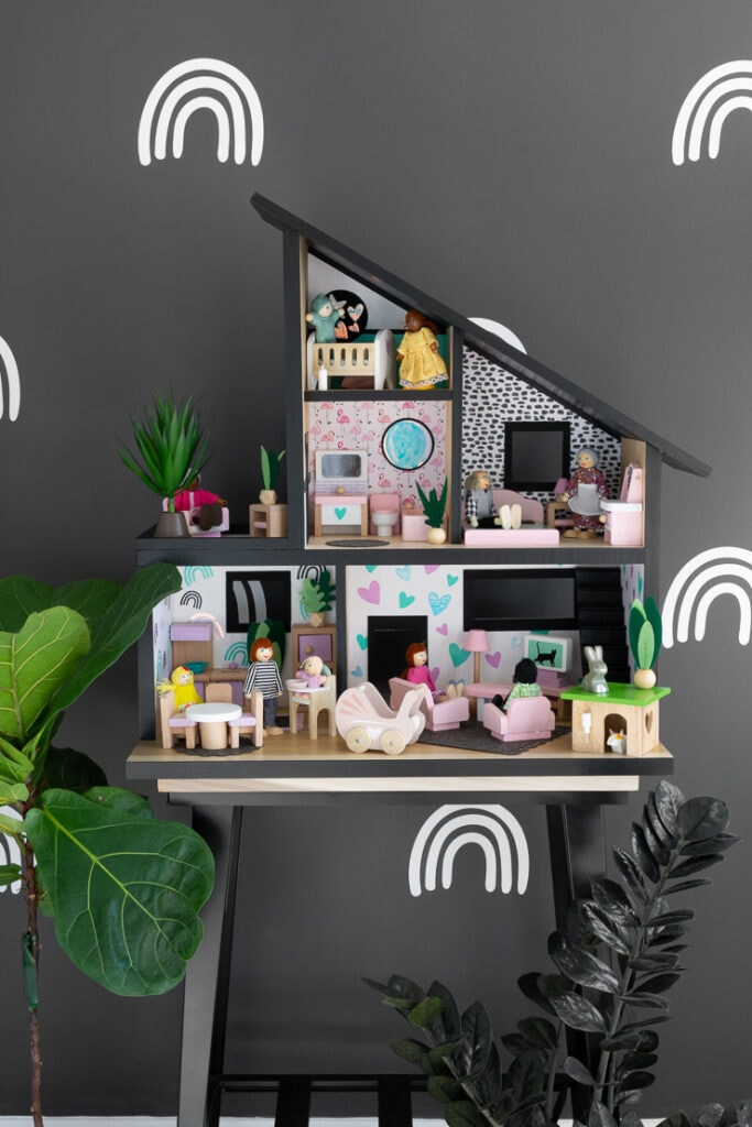DIY modern dollhouse design