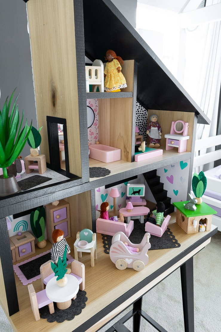 DIY modern dollhouse design