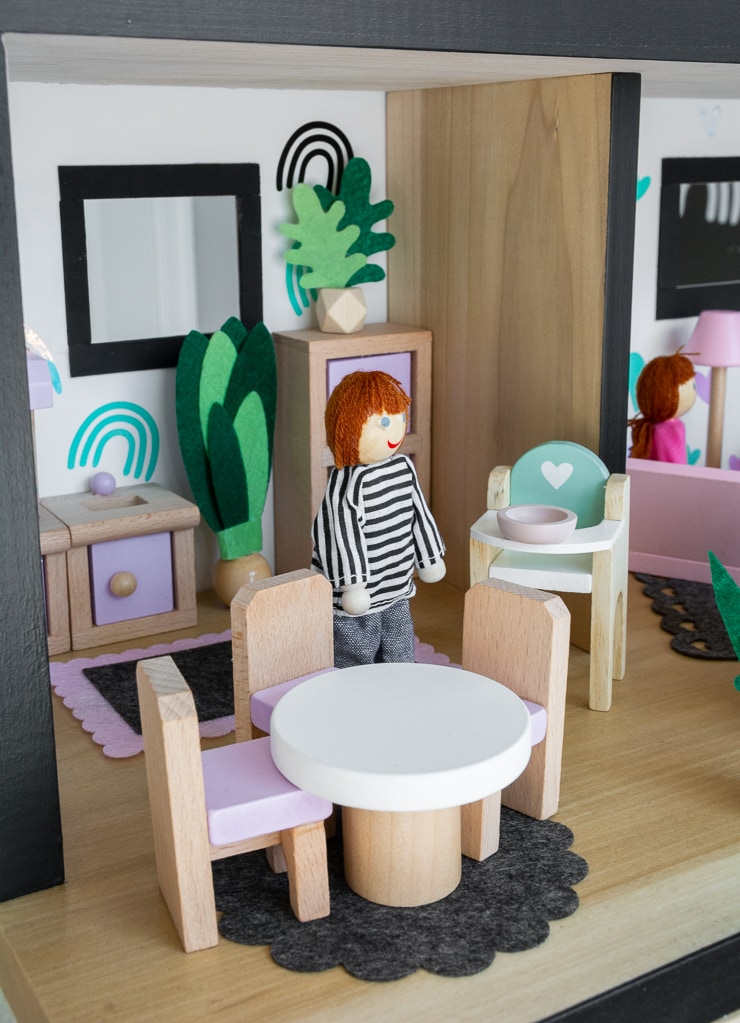 kitchen of a DIY dollhouse