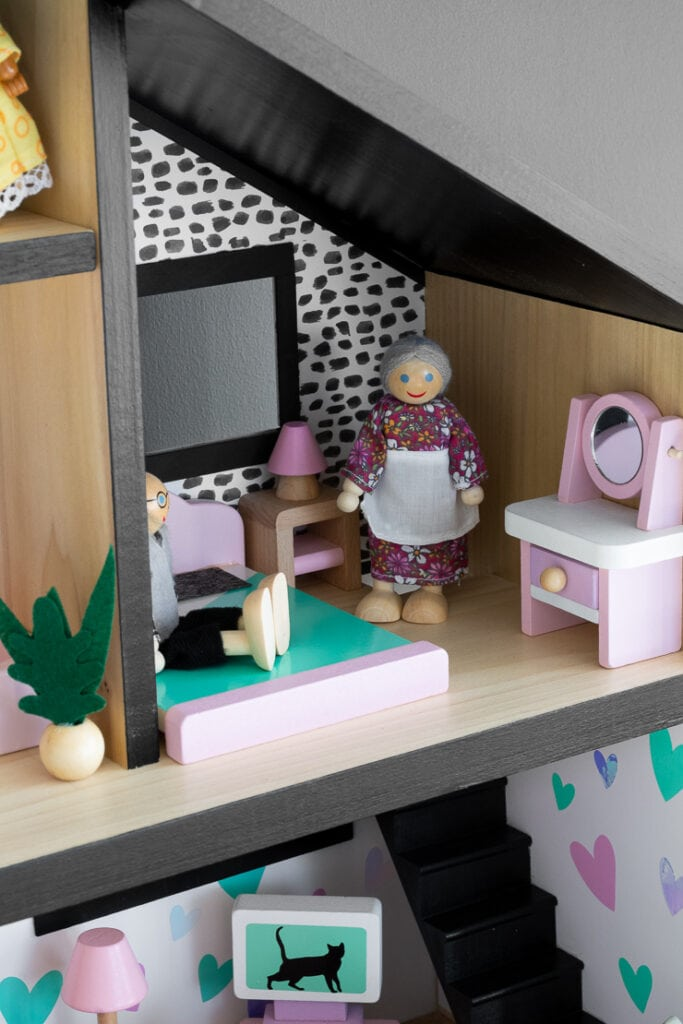 interior of a beautiful chic dollhouse