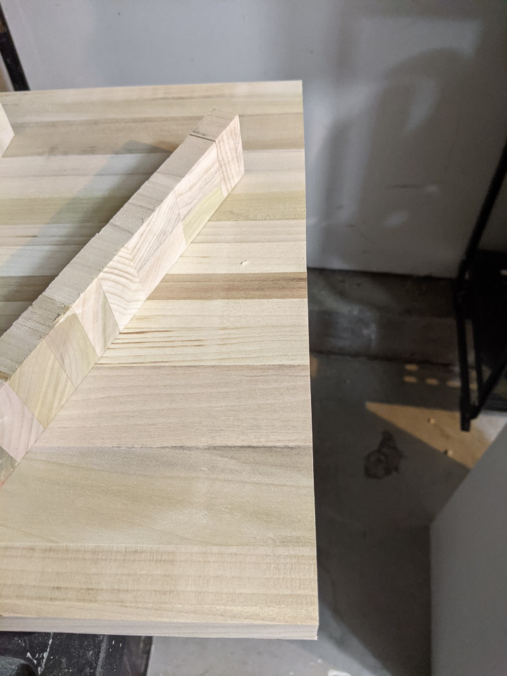 creating the top of the desk