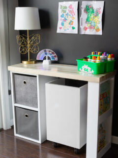 DIY toddler desk
