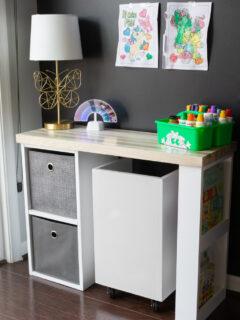 DIY toddler desk
