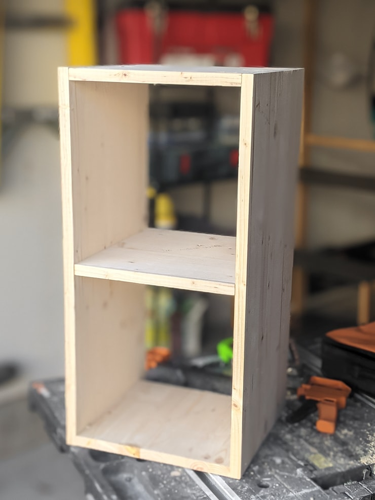 Building the cubby base for the desk