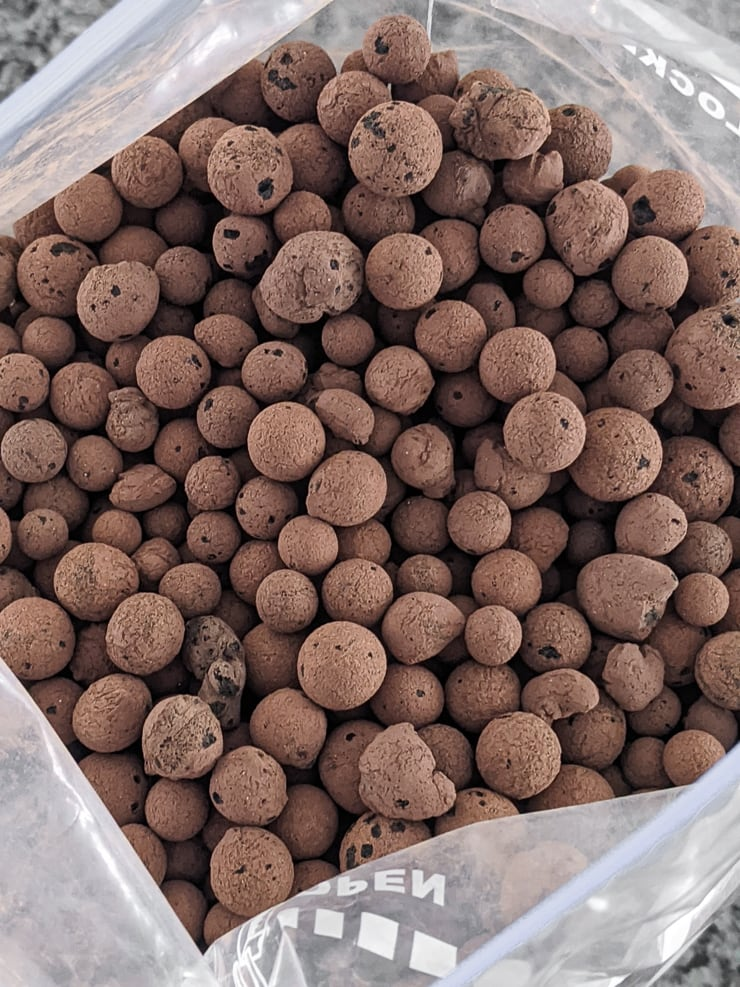 dry LECA balls