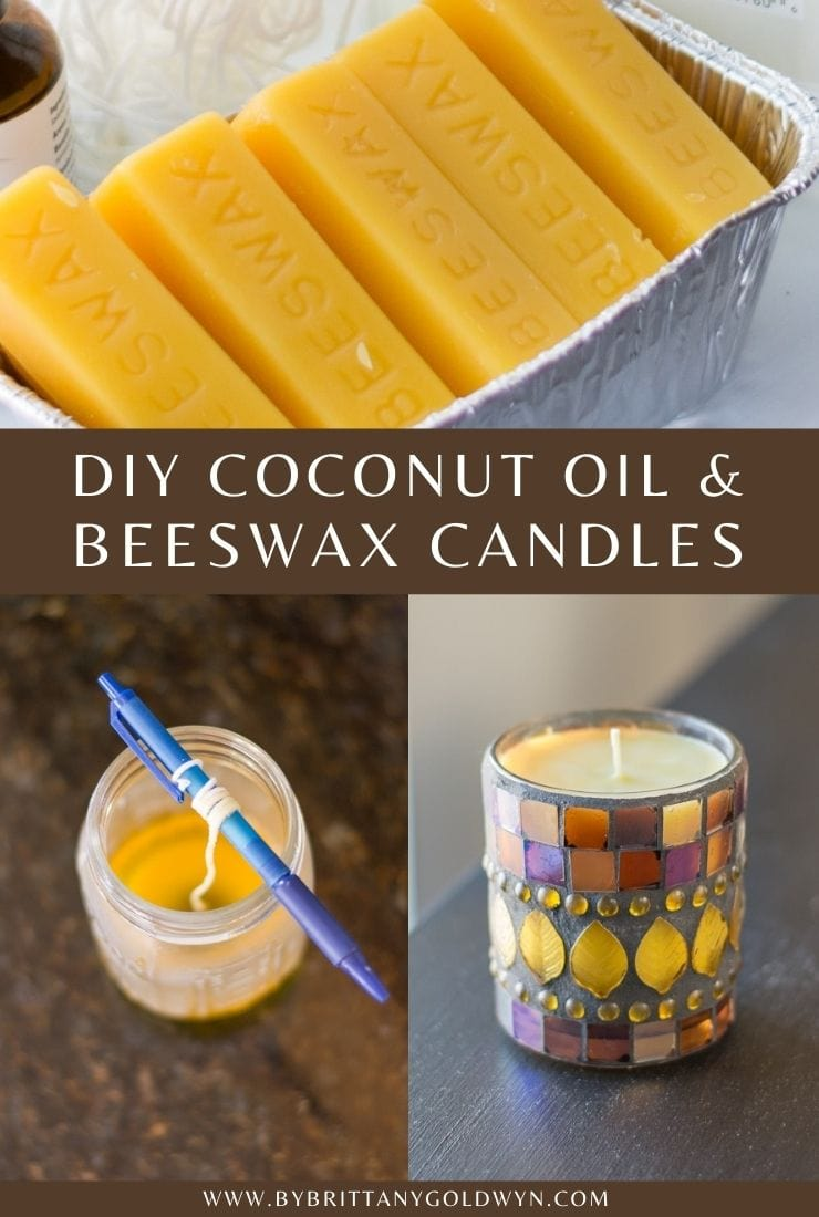 How to Make Beeswax and Coconut Oil Candles