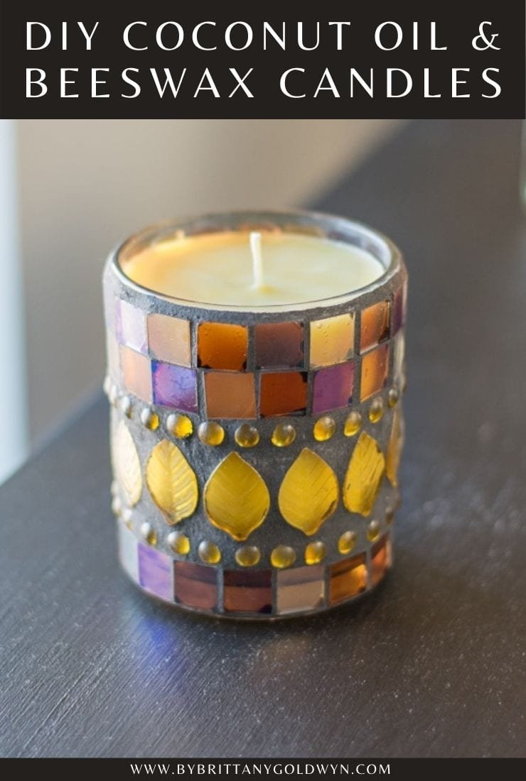 Beeswax and Coconut Oil Candles recipe