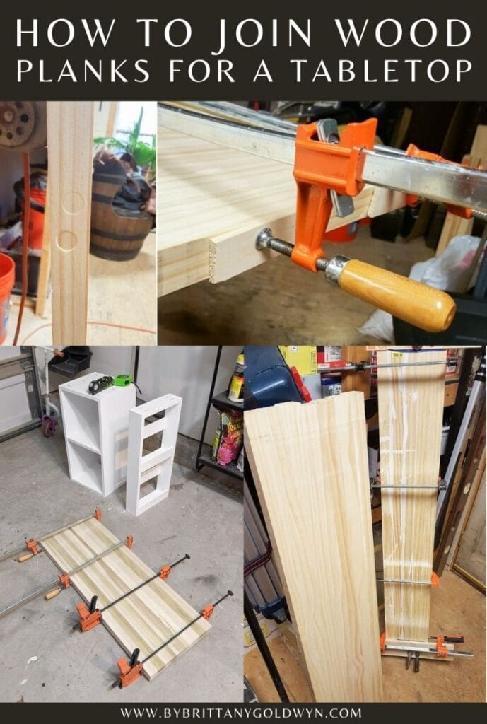 joining wood planks for a tabletop