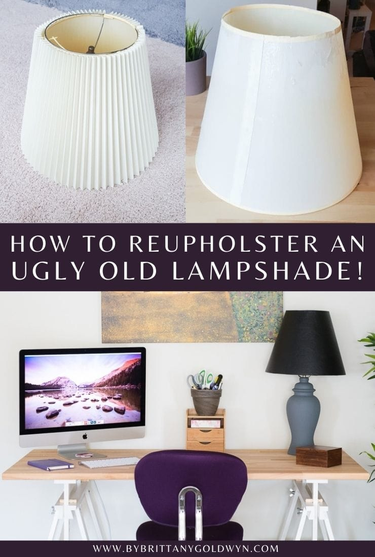 how to reupholster a lampshade