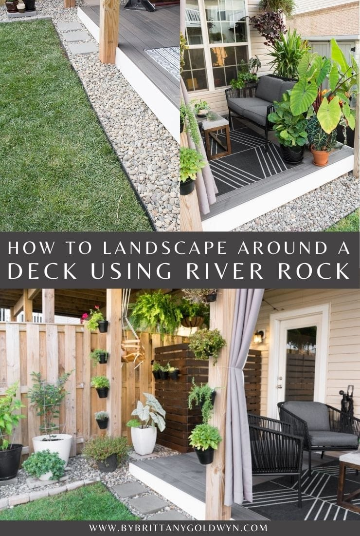 Deck Landscaping with Rocks