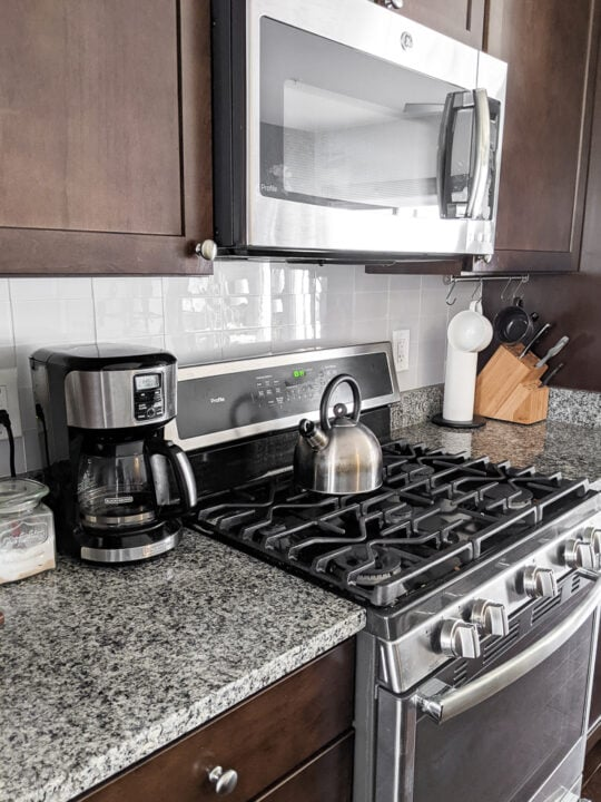 kitchen with aspect peel and stick tiles