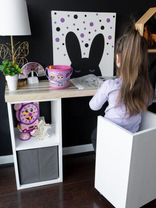 DIY thrifted kids art