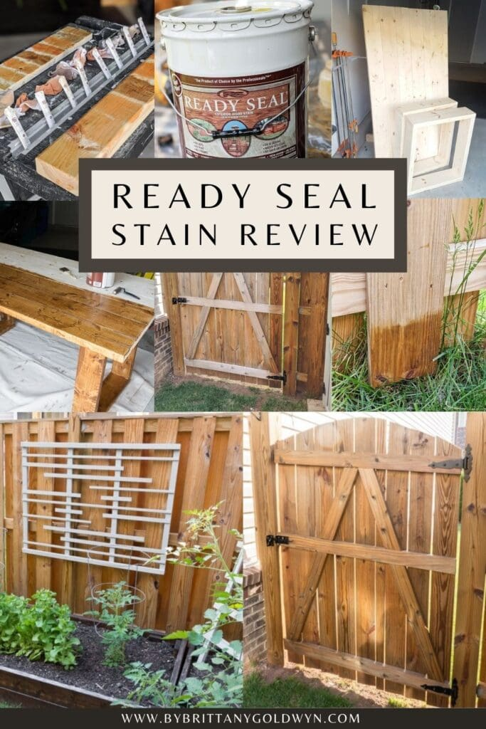 image collage with text Ready Seal Stain and Sealer Review