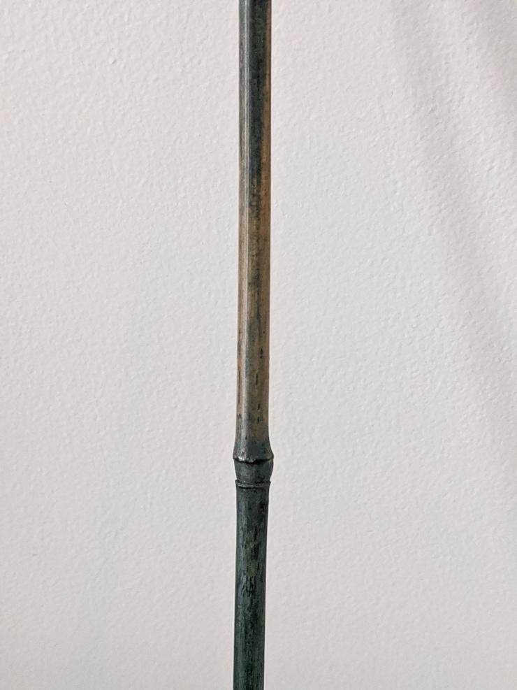 closeup of a bamboo stake