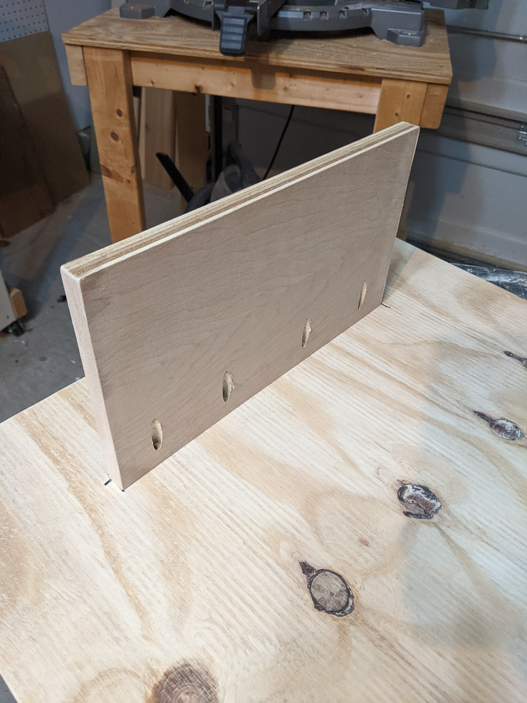 bottom of the DIY lego table