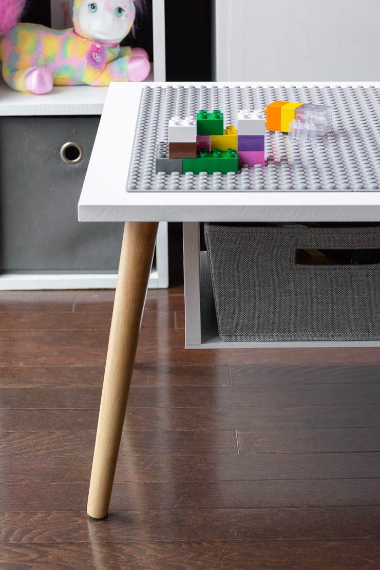 finished easy DIY lego table