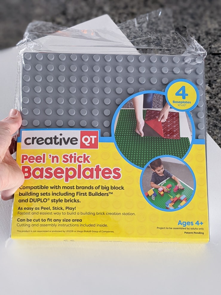 creative QT peel and stick baseplates for duplos