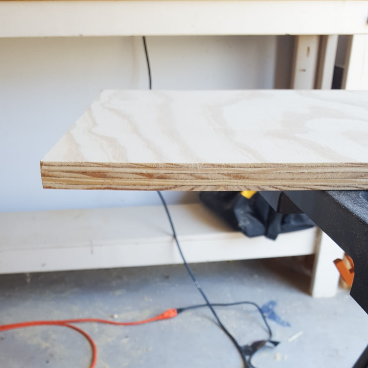 unfinished plywood edge